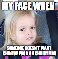 Chinese food on Christmas