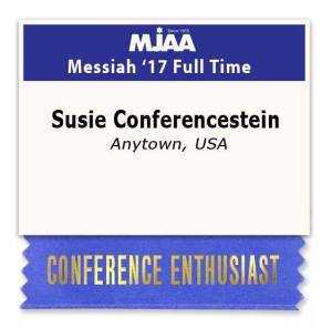 Conference Enthusiasts Name Badge
