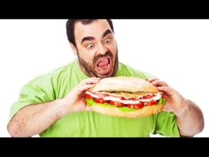 Man Eating Sandwich